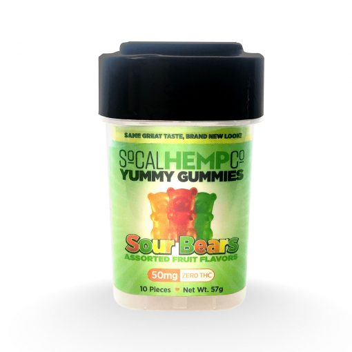 SoCalHempCo Yummy Gummies – 50mg Sour Bears – Front View